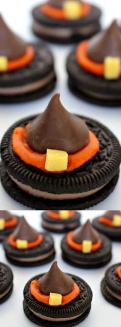 62c4efc5606 These Halloween Witch Hat Cookies from Princess Pinky Girl are super cute  and easy to make