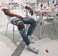 Dope Outfits For Guys, Swag Outfits Men, Stylish Mens Outfits, Tomboy Outfits, Mode Outfits, Style Streetwear, Streetwear Fashion, Streetwear Jeans, Mode Hip Hop