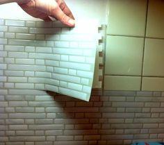 J'ai testé le carrelage mural adhésif  -Smart Tiles-