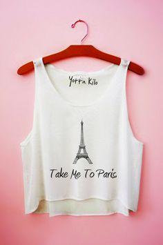 Take Me To Paris Crop Tank Top Yotta Kilo
