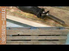 Cortar clavos de palet con sierra de sable. Cut palet nails with recipro...