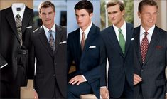 Since the character is on a job interview, These would be an interesting choice of suits.