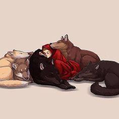 Dark Wolf: Fan Art: Los Otros de Anne Bishop  A alguien en la web le pareció que era Meg con los Lobos