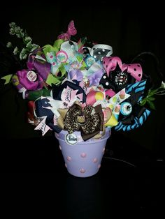 Bowquet I made for my cousins baby shower.