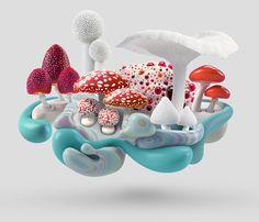 "From Mush, ""an experimental visual series of mushroom micro-ecosystems"" by Jerico Santander"