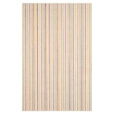 Lend a touch of breezy style to your entryway or living room with this delightful loomed rug, showcasing multicolor stripes for eye-catching appeal....