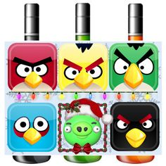 """""""Angry Birds Beverage Label"""" for the Holidays"""
