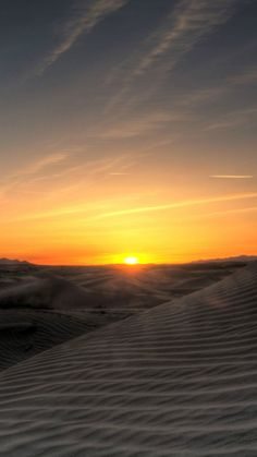 Sunset In The Desert #iPhone #7 #wallpaper