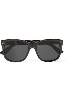 90f6898e4ef05d Black acetate Come in a designer-embossed leather case UV protection Made  in Italy
