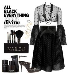 """Back in Black"" by loves-elephants ❤ liked on Polyvore featuring Glamour Status, Rare London, Boohoo, IRO, Edie Parker, Givenchy, Kenneth Cole, Chanel, Topshop and allblackeverything"