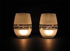 Lord of the rings,one ring inscriptions tea candle holder.Set of two