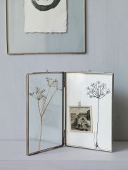 Hinged Glass Frame- Silver