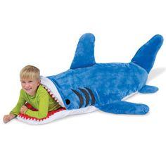 The Shark sleeping bag  http://www.wicked-gadgets.com/shark-sleeping-bag/
