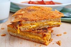 Grilled cheese with extra crispy cheese on the outside....how could this NOT be amazing?!?!