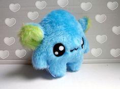Fluse Kawaii Plush Monster  bluegreen stuffed animal von Fluse123, €22.00