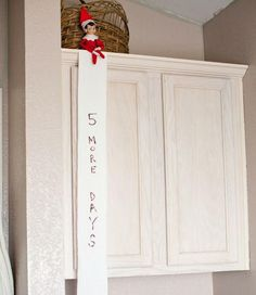 elf on the shelf http://www.ldssmile.com/2013/12/05/31-best-elf-shelf-ideas/
