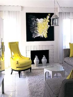 Viceroy- Palm Springs- love the shape if that yellow chair! Decor, Furniture, Room, Interior, Apartment Design, Home Decor, House Interior, Home Interior Design, Interior Design
