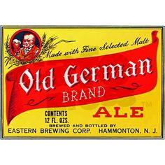 Vintage New Jersey Beer Label
