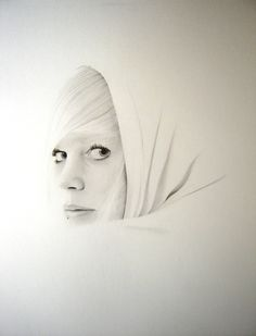 'dernier regard' graphite drawing