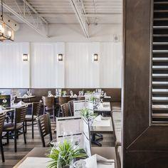Fourchette Antillaise project reveal - Valérie De L'Étoile interior design Conference Room, Restaurant, Furniture, Design, Home Decor, Home Decoration, Decoration Home, Room Decor, Meeting Rooms
