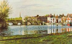 The Bridge & Quay, St Ives, Cambridgeshireprint - Painting from John Twinning Fine Art Prints