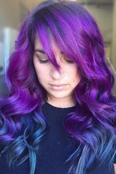 Two-Tones Blue and Purple Hair picture 3