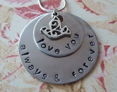 Love You Always & Forever Necklace by SimplySweetHome on Etsy, $21.00