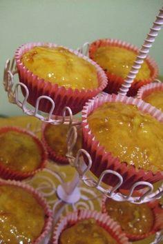 raspberri cupcakes: French Yoghurt Cakes with a Marmalade Glaze