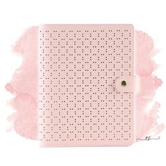 Planner binder A6/personal perforated in pastel pink at TanyaBrittany shop