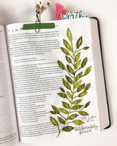 Y'all...scripture is so alive and active. Randomly came across Jeremiah 31 yesterday and it just hit me so hard. Praising God for the hope he gives his children. . . Also gotta give @scribblinggrace a shoutout for the greenery inspiration. . . . #faithheirlooms #greenery #biblejournaling #biblestudy #godsnotdead