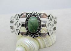 Vintage NAVAJO STERLING CUFF Sterling Silver by DaffodilsVintage