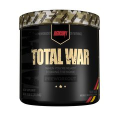 Redcon1 - Total War Pre-Workout Full Review. Does it live up to it's hype? Find out here: http://www.supplementreviewshark.com/total-war-pre-workout-review/ #supplementreviewshark
