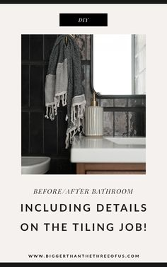 Modern Powder Room Reveal: All the before/after pictures of the powder room plus get sources and details on the powder room remodel cost!