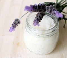 DIY lavender sugar scrub 3/4 cup coconut oil 3/4c sugar 1 tsp lavender oil!