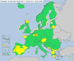 Valid for 03.08.2016 from 16:19 CET Meteoalarm - severe weather warnings for Europe - Mainpage