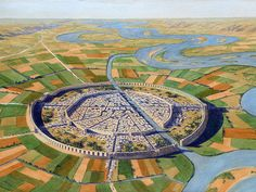 The 16 greatest cities in human history, from ancient Jericho to modern Tokyo Fantasy City, Fantasy Castle, Fantasy Places, Architecture Concept Drawings, Art And Architecture, Medieval Castle Layout, Jericho City, Site Archéologique, Design Inspiration