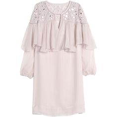 Rebecca Taylor Long Sleeve Mirror Eyelet Dress ($289) ❤ liked on Polyvore featuring dresses, cameo pink, pink dress, eyelet dress, shift dress, ruffle shift dress and pink shift dress