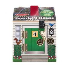 12505 Melissa & Doug Wooden Doorbell House