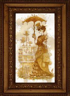 Steam Punk Lasses - Tea Girls by Brian Kesinger Combines Clock Work Fantasy with Elegant Composure (GALLERY)