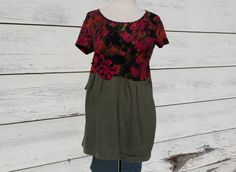 Upcycled Clothing / Funky Eco Tunic Dress /  by CuriousOrangeCat, $65.00