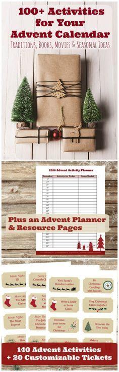 DIY #Christmas countdown! Fun activities for your Advent calendar or holiday countdown. #printable
