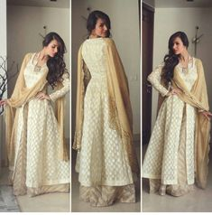 Cream n gold !!!Very beautiful and elegant outfit