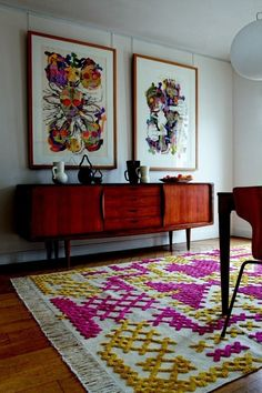 that rug! it looks like cross stitches