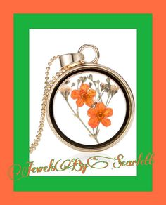 Orange Flowers Under Glass                   Amazing statement necklace of Orange flowers in a glass bottle with rose gold accents and chain. #interesting #bohochic #orange #flowers  #glass bottle #rose gold   Shop this product here: http://spreesy.com/JewelsByScarlett/60   Shop all of our products at http://spreesy.com/JewelsByScarlett      Pinterest selling powered by Spreesy.com