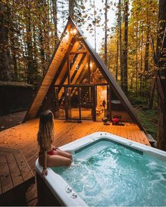 A Frame House A frame house short hair styles for girls - Hair Style Girl Tiny House Cabin, Cabin Homes, My House, Tiny Homes, Girl House, A Frame House Plans, A Frame Cabin, Cabins In The Woods, House In The Woods