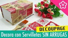 DECORAR CON SERVILLETAS DE PAPEL SIN ARRUGAS Hacer Decoupage Perfecto - ...