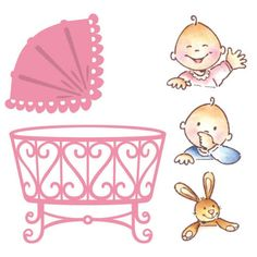 Marianne Design Collectables Cutting Dies & Clear Stamps - Eline's Baby COL1313