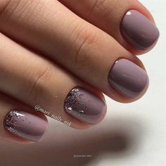 Beautiful Nail Art Ideas You Have To Try Nail art is a creative way to paint, decorate, enhance, and embellish the nails. It is a type of artwork that can be done on fingernails and toenails, usually after manicures or pedicures. A manicure and a pedic Shellac Nails, Toe Nails, Mauve Nails, Acrylic Nails, Shellac On Short Nails, Rose Gold Glitter Nails, Fall Gel Nails, Glitter Accent Nails, Sparkle Nails