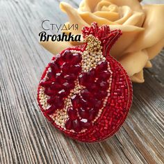 Must Embroider and bead this! Bead Embroidery Jewelry, Beaded Jewelry Patterns, Fabric Jewelry, Embroidery Fashion, Beaded Embroidery, Lesage, Beaded Brooch, Brooches Handmade, Bead Art