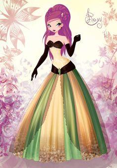 Winx Club Roxy Dress   Roxy Ball Dress by CoolCatFlora